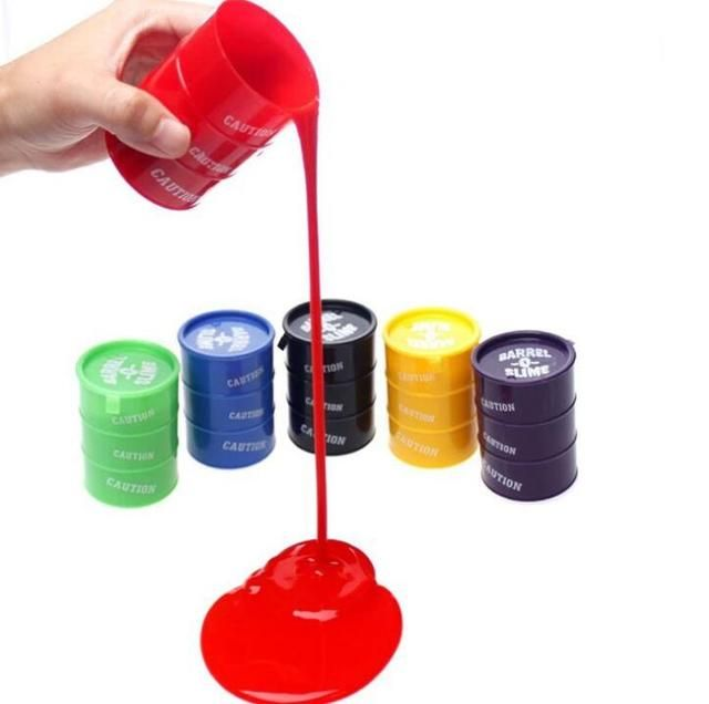 5CM !!! Colorful Barrel O Slime Large Joke Gag Prank Gift Toy Crazy Trick Party Supply Retail free shipping