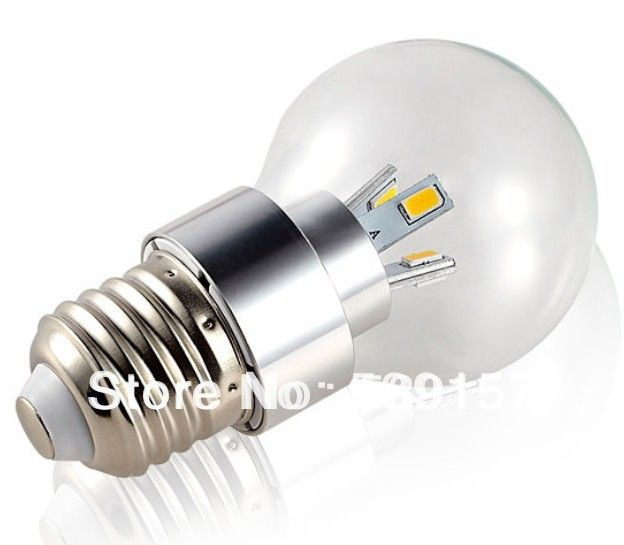 DHL free Shipping Dimmable 5W L E27 High Power  Clear Cover / Frosted Cover  led Bulb Lamp Light AC85~265V