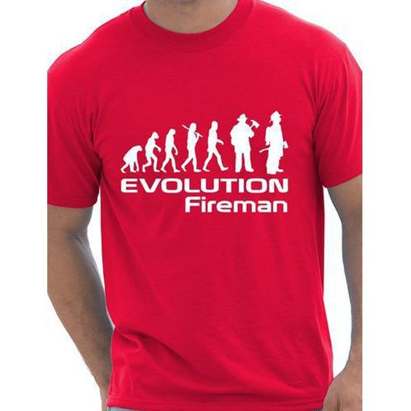 Evolution Of A Fireman Gift Firefighter T shirt More Size and Colors funny interesting