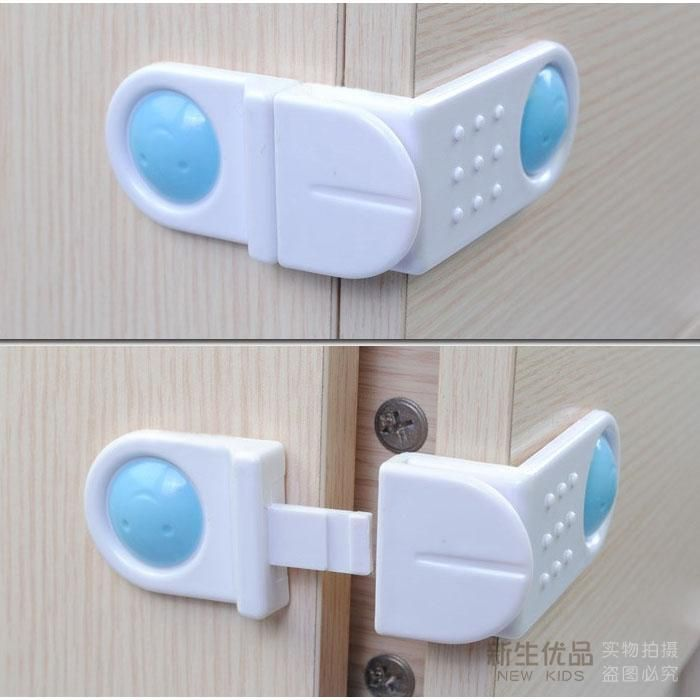 10 Pieces/Lot Baby Safety Drawer Lock Right Angled Drawers Door Lock Baby Safety Products Kitchen Cabinet Lock