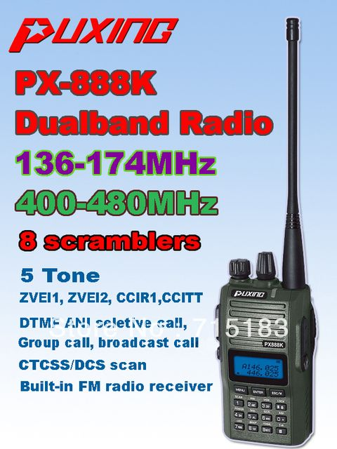 Camouflage PUXING PX-888K dualband dual frequency UHF 400-480Mhz VHF 136-174MHz two way radio PUxing walkie talkie px 888k