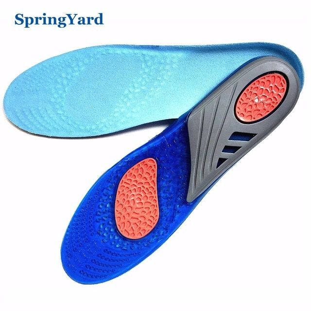 SpringYard Newest Three Colour Shock Absorption Cushion Running Basketball Sport Gel Insoles for Shoes Woman Men