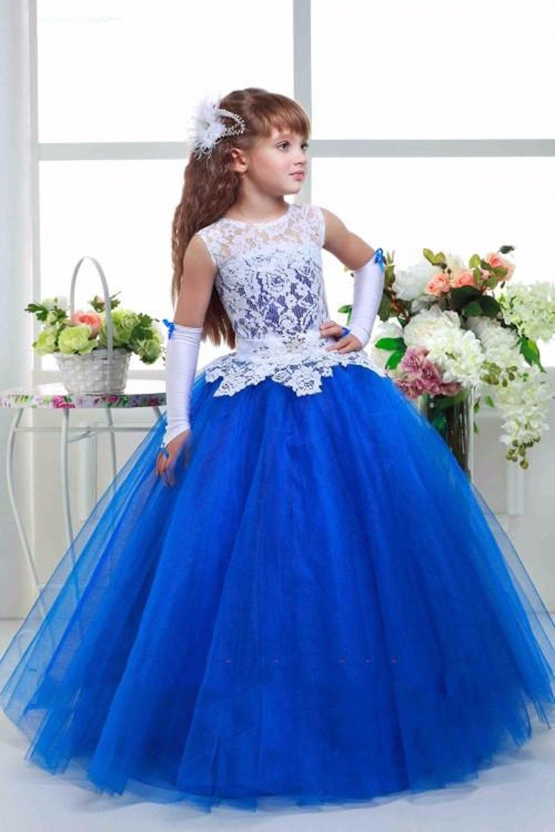 Lovely Lace First Communion Dresses For Girls 2016 A-line High Collar Flower Girl Dresses kids prom evening gowns