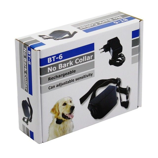 Pet Dog Training Collars Rechargeable Electric Anti Bark Stop Collar Shock Sound Auto Anti Bark Sensitivity Adjustable BT-6