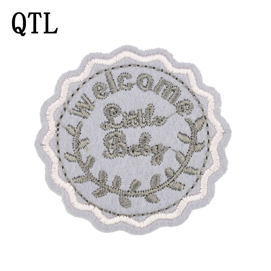 5pcs little baby badge patches for clothing iron embroidered patch applique iron sew on patches sewing accessories for clothes