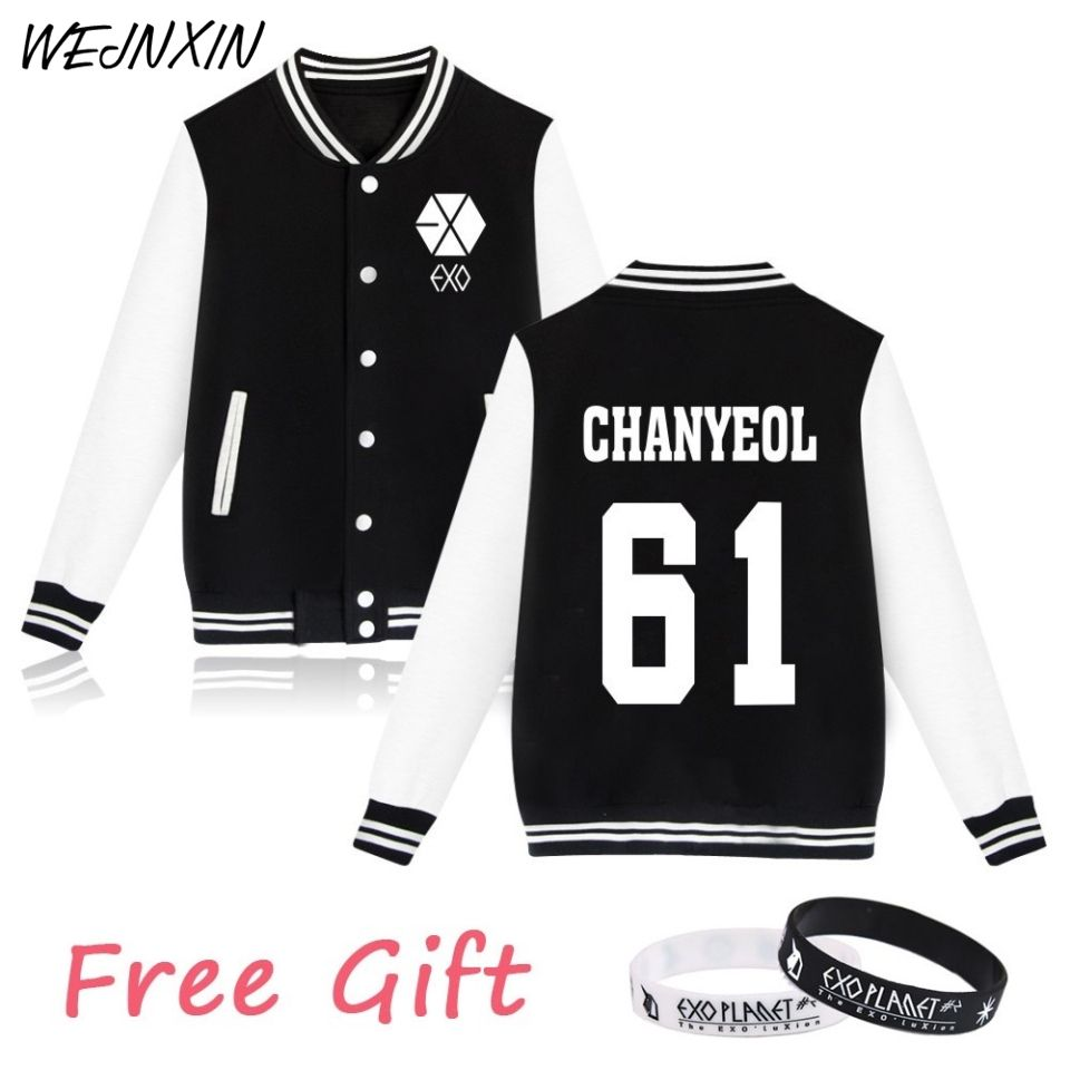 WEJNXIN Kpop Exo Fleece Hoodies Women Autumn Winter Women's Casual Long Sleeve Harajuku Sweatshirt Exo Fans Female Sudadera