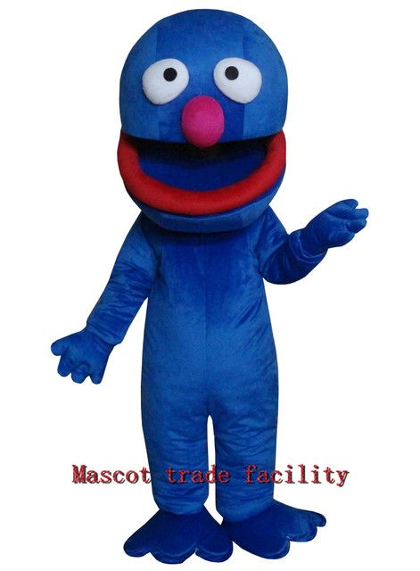 New luxury Sesame Street Blue Cookie Monster Mascot costume Fancy Dress Adult size Halloween free shipping