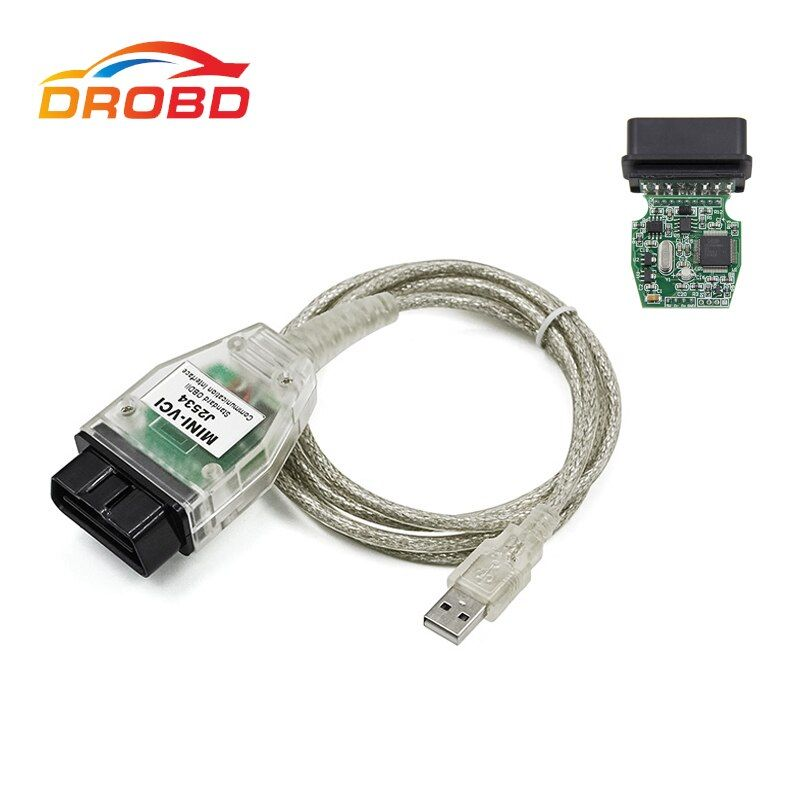 New V13.00.022 MINI VCI Interface  TIS Techstream minivci FT232RL Chip J2534 OBDII OBD2 Diagnostic-Tool