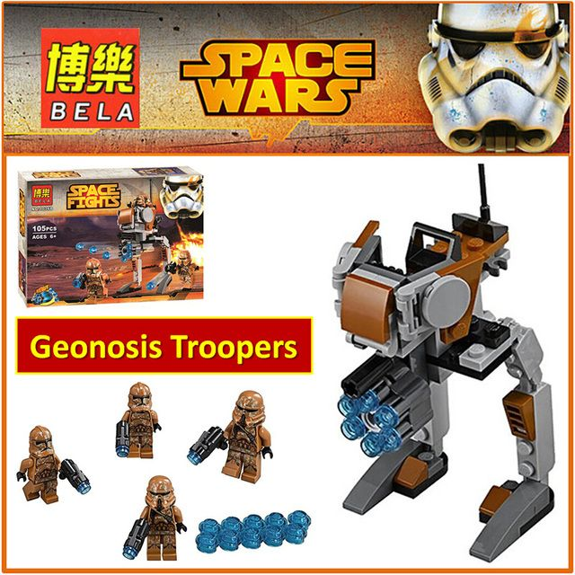 10368 Compatible  Classic Space Wars Geonosis Troopers 75089 Model  Figures  Building Blocks Educational Toys for Children