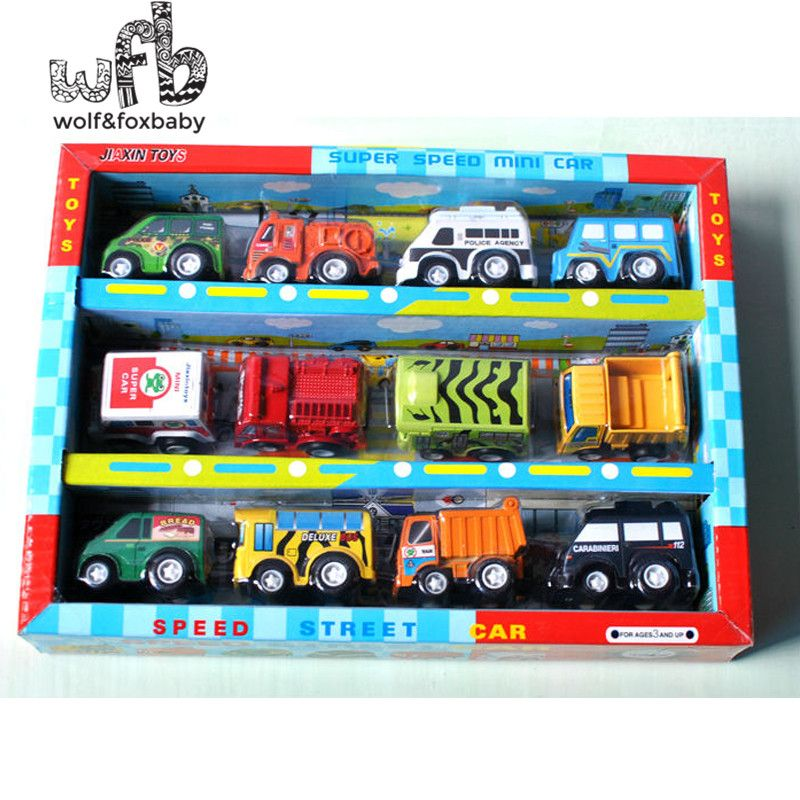 Retail 12pcs/pack model car Baby kids infants funny toys children multicolor brightly Free shipping
