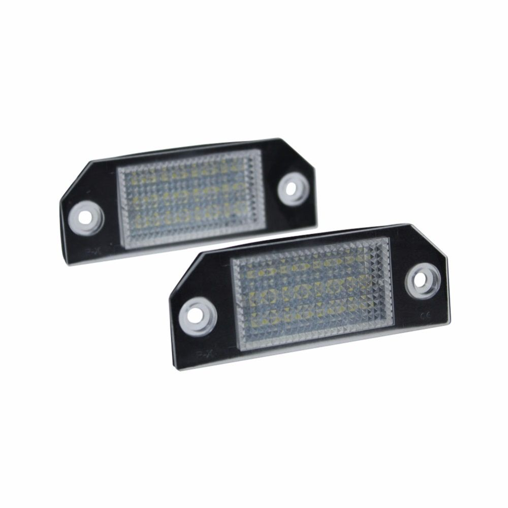 License Number Plate Lamp for Ford Focus MK2 Ford C-MAX MK1 2003-2010 Error Free 24 White LED Rear Light Car Bulbs