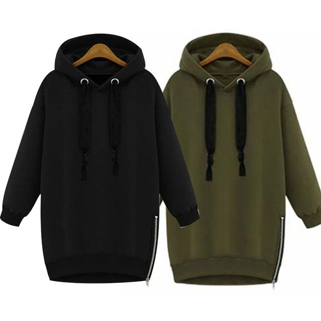 Fashion Winter Autumn Fashion Women Long Sleeve Hooded Jacket Loose Warm Hoodies Solid Sweatshirt HB88