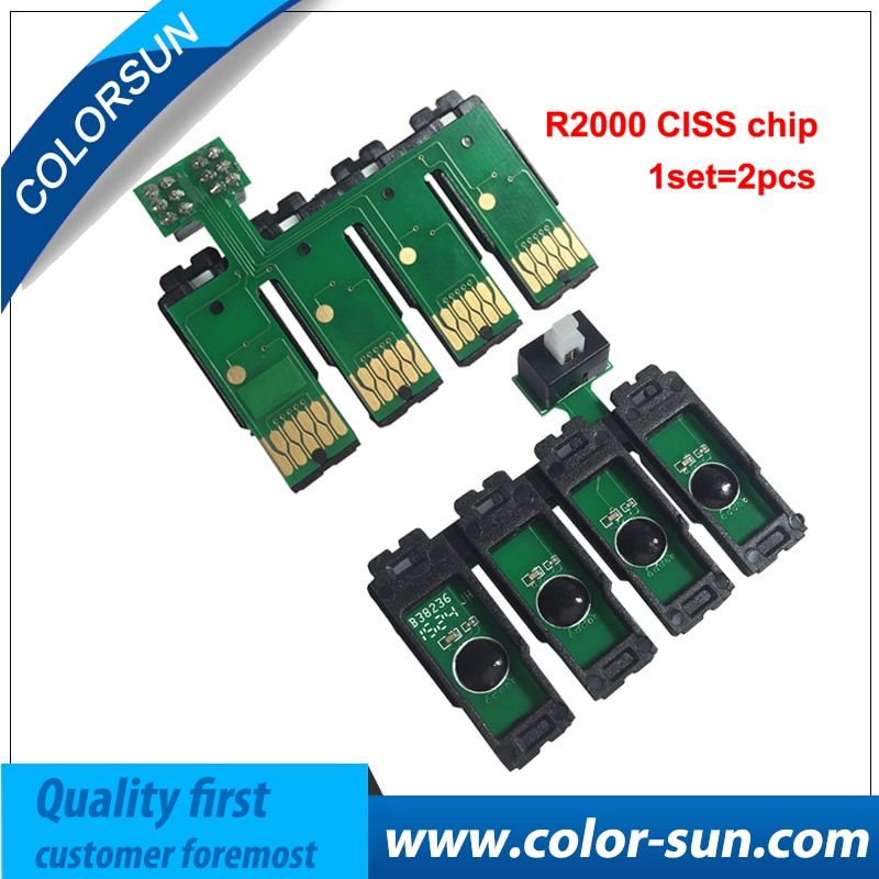 8 colors ARC Chips For EPSON Photo R2000 Refillable Ink Cartridge CISS CIS Auto Reset chip chips