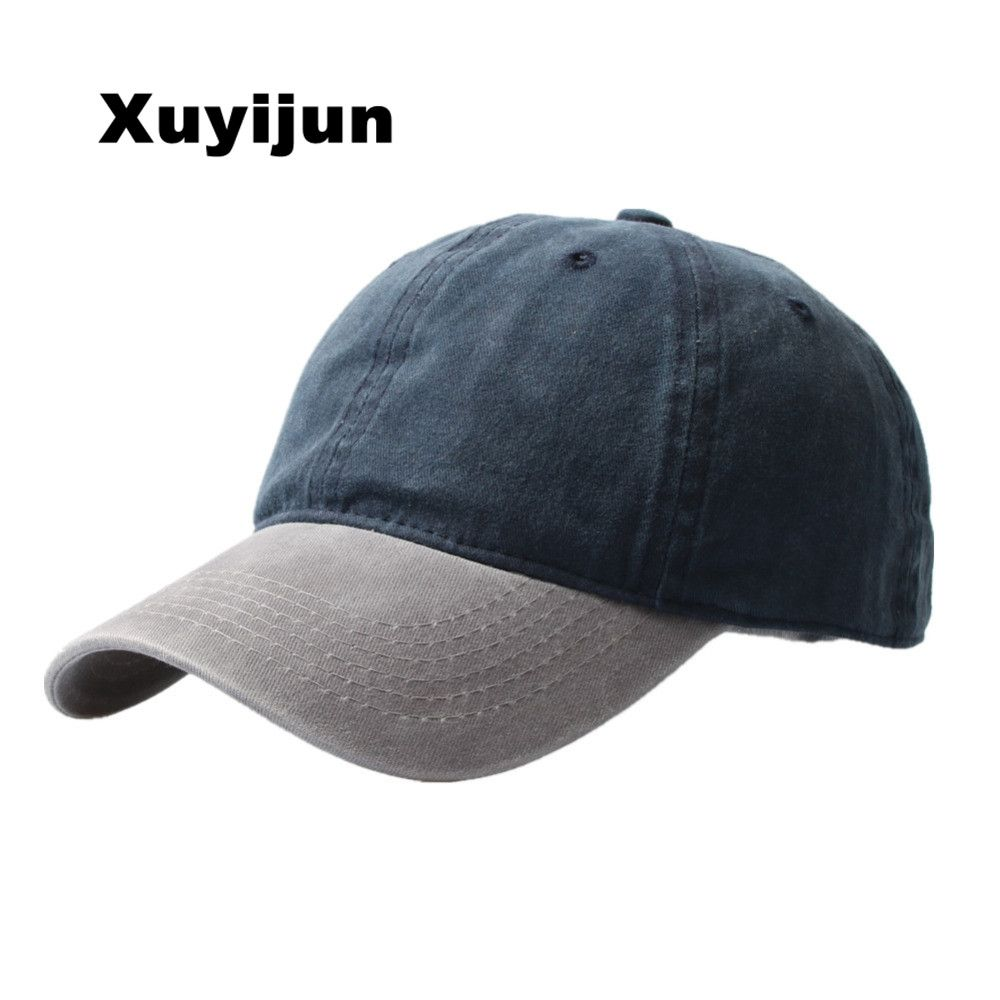 XUYIJUN Bones Washed Denim Snapback Hats Autumn Summer Men Women Baseball Cap Golf Sunblock Beisbol Casquette Hockey Caps
