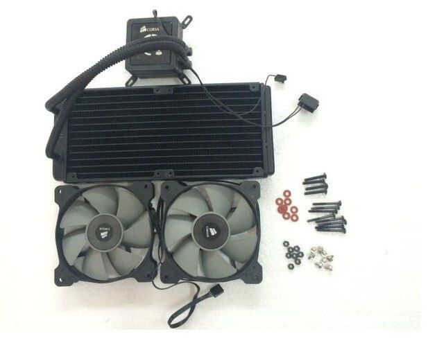 Fast Free Ship Original CPU integration water-cooled radiator CPU cooling fan H100 240CM Water Cooled Row Heat Exchanger