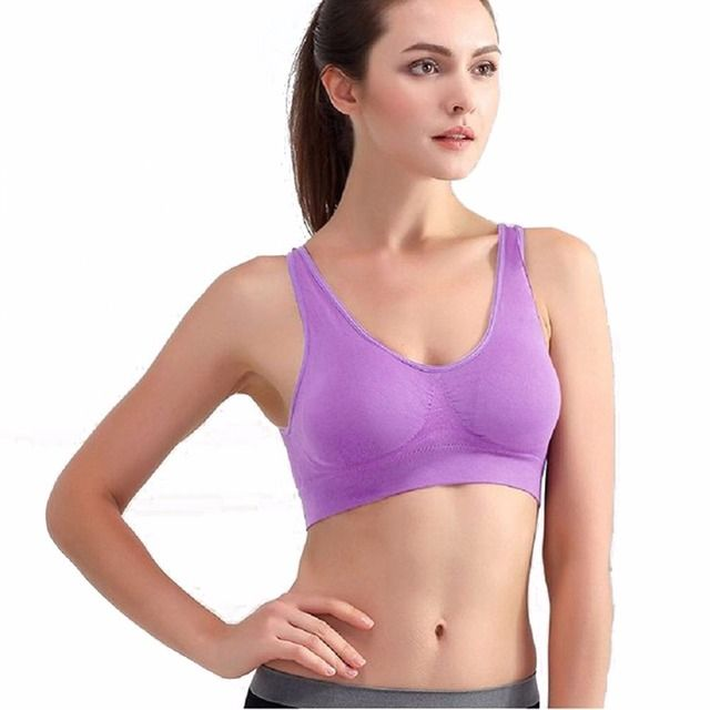 Fitness Yoga Push Up Sports Bra for Womens Gym Running Padded Tank Top Athletic Vest Underwear Shockproof Strappy Sport Bra