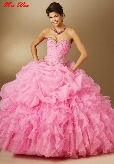 Vestido De Debutante Sweetheart Sweet 16 Dresses Ball Gowns Party 15 Years Green Hot Pink Purple Masquerade Quinceanera Dresses