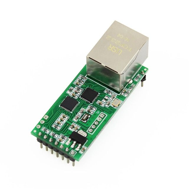 Q002-5 USR-TCP232-T2 Embedded Ethernet Module Serial Ethernet UART TTL to Ethernet Converter with HTTPD Client/DHCP/DNS
