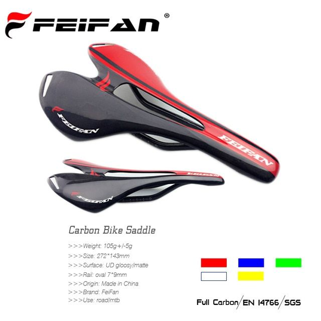FEIFAN Super Light Full UD Carbon Road Bike saddle Matte Glossy Black Cycling Bicycle seat  in stock hollow seats fast shipping