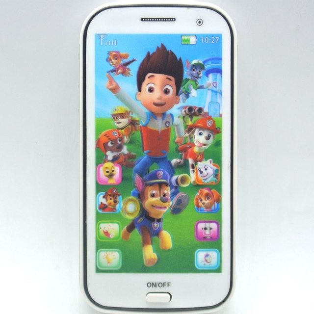 4D Baby Toy Phone Kids Mobile Toy Touch Screen Learn English with Song Light Story Telling Educational VocalToys for Baby