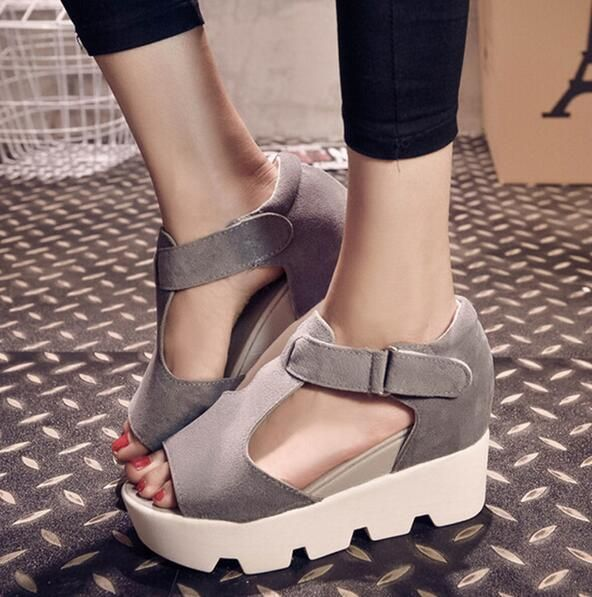 Summer Style 2016 Platform Sandals Women High Heel Casual Shoes Open Toe Platform Gladiator Trifle Sandals Women Shoes S464