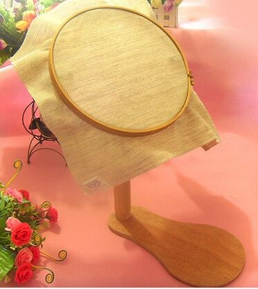 Dia21cm Wood Embroidery Frame  Wooden Tambour Hoop Cross Stitch Frame High Adjustable Desktop Frames 360 Degree Rotation