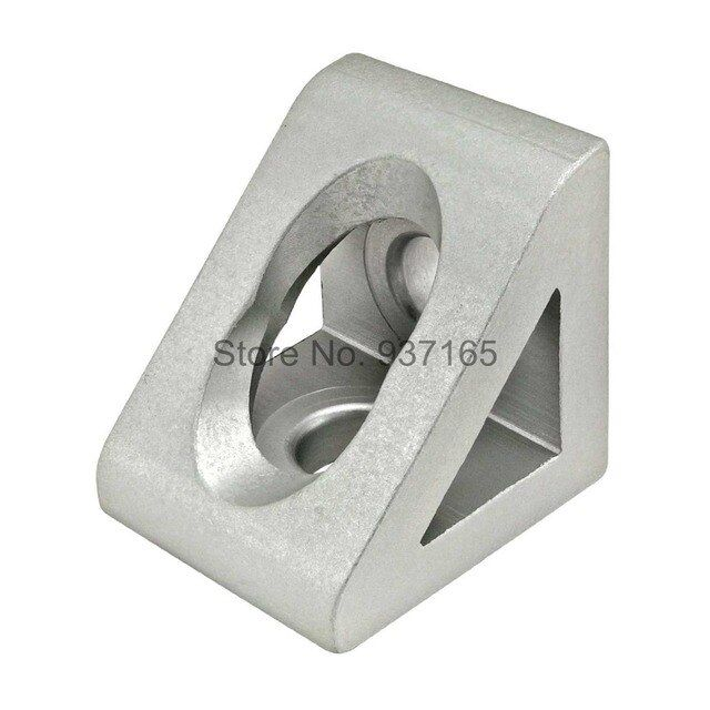 2 hole Inside Guesset Corner Angle L Brackets Fastener Fitting Round Hole for 3030 Aluminum Profile Extrusion 3030