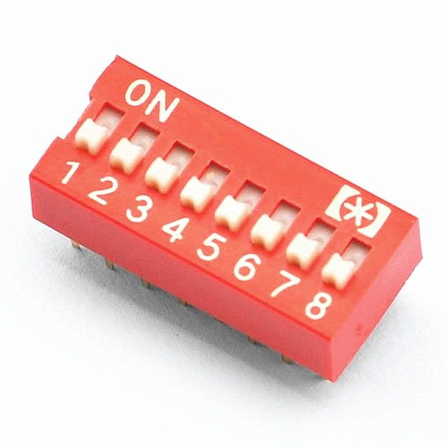 ( 10 pcs/lot ) 8 Way DIP Switch, 8 Position 16 pin PCB Mountable.
