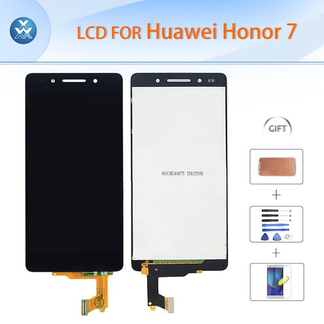 Original LCD For Huawei Honor 7 LCD display touch screen digitizer glass assembly frame repair 5.2 inch pantalla tape tools film