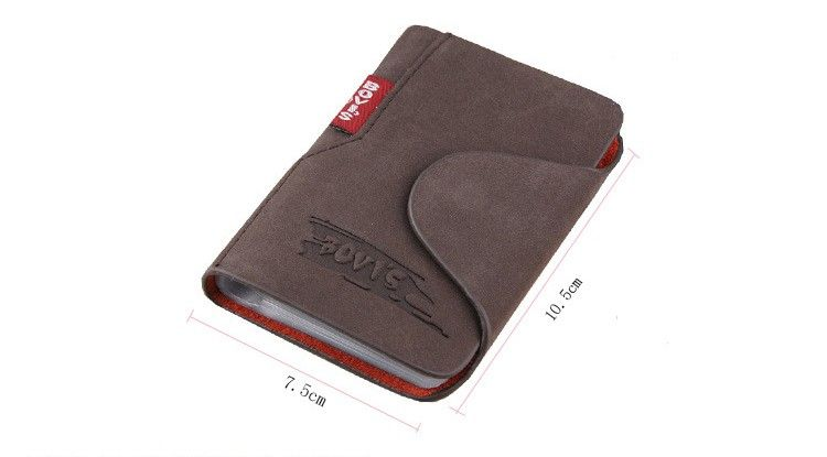 Wholesale 2017 New Cowhide ID Card Holder Men Credit Card Case Leather Business Card Wallets.