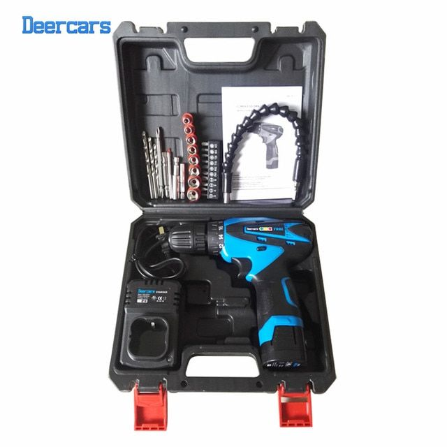 16.8v Cordless Drill DIY Electrical Drill Lithium Screwdriver Electrical Drilling Tool One Battery Drill Bit Plastic Case Combo