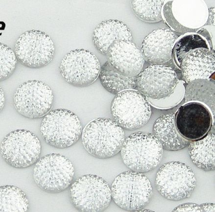 400pcs 12mm Bling Round Rhinestones/ flat back embellishment resin /acrylic cab dotted crystal Transparent color cabochons