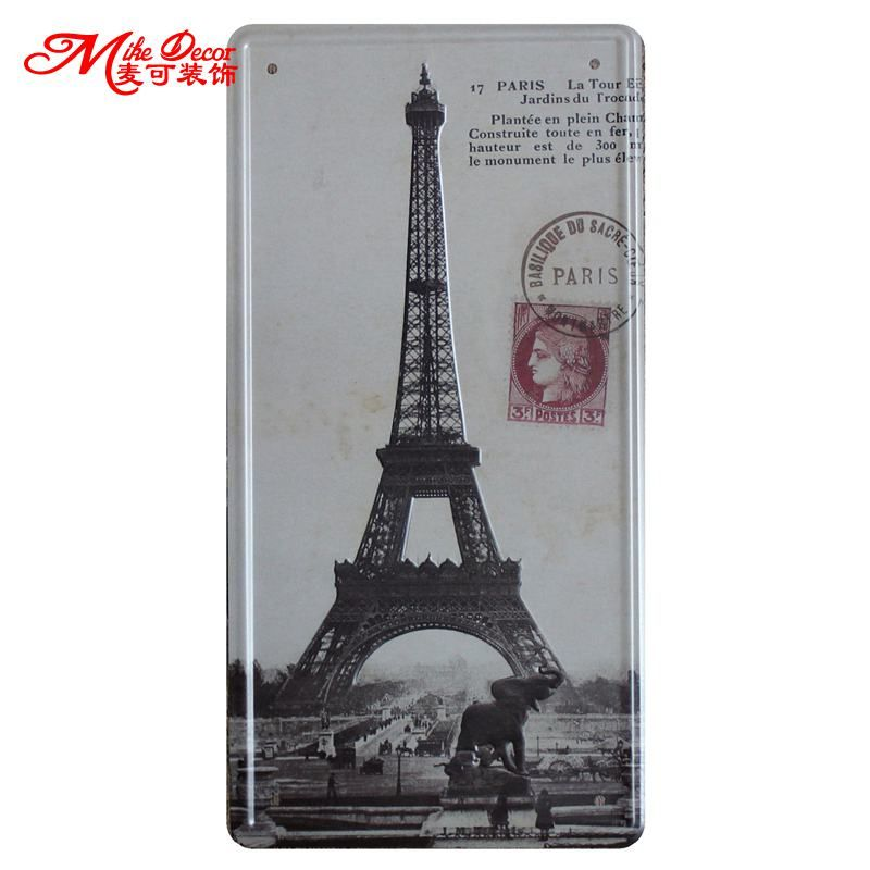 [ Mike86 ]The Eiffel Tower in France Antique Pub Party decoration Retro Gift Craft Metal Tin signs D-356 Mix order 30*15 CM