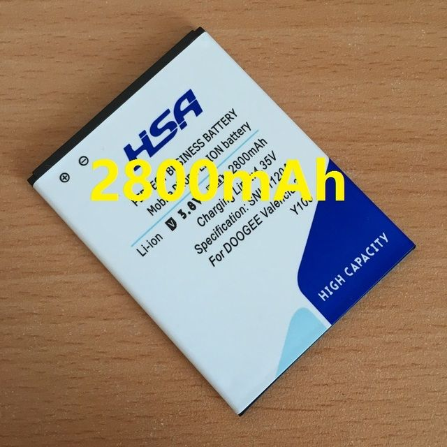 2800mAh Mobile Phone Battery Use for DOOGEE Valencia 2 Y100 / Y100 Pro