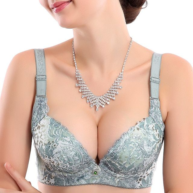 8106 5 cup classical elegant embroidery leopard print push up adjustable bra small mm