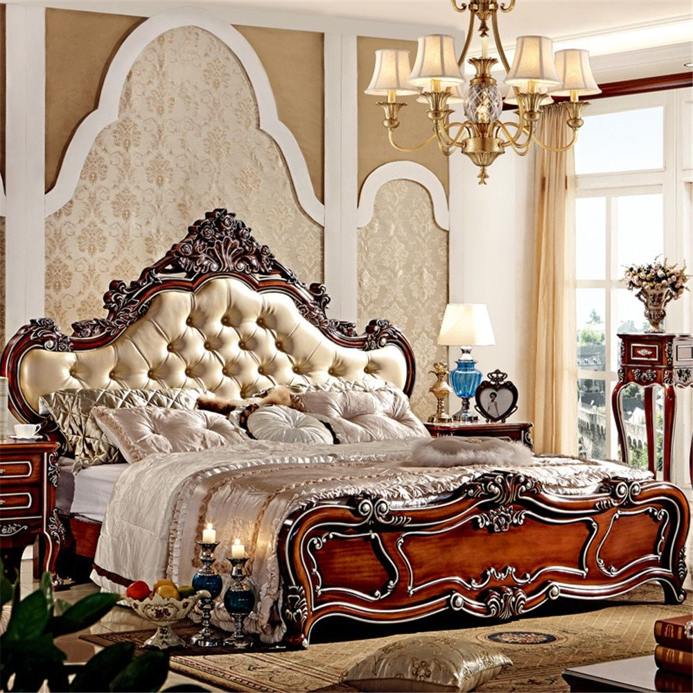 hot selling classic design wooden bed