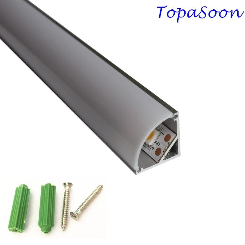 10PCS 1m length aluminium led profile corner profile excellent quality aluminum channel housing Item No.LA-LP12A free shipping