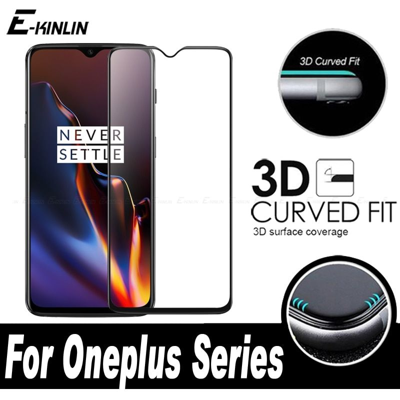 3D Curved Edge Full Cover Screen Protector Tempered Glass Film For One Plus OnePlus 7T 7 6T 6 5T 5 A6010 A6000 A5010 A5000