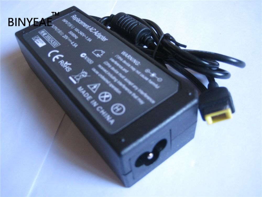 20V 4.5A 90W AC /DC Power Supply Adapter Battery Charger for Lenovo ThinkPad S431 L540 U430p Yoga 13