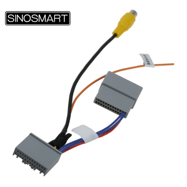 SINOSMART C24D-A Reversing Camera Connection Cable for Honda SHUTTLE Accord 2.4 etc. OEM Monitor without Damaging the Car Wiring
