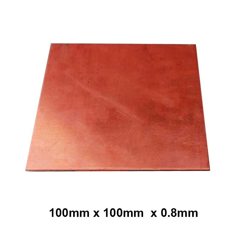 Premium T2 99.9% 100x100x0.8mm DIY Copper Shim Heatsink thermal Pad for Laptop GPU CPU VGA Chip RAM  and LED Copper Heat sink