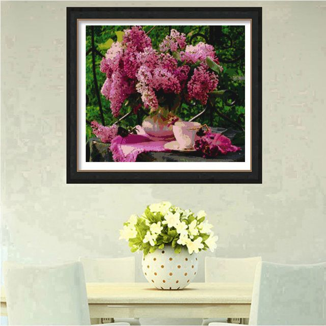 New Arrive Diy Diamond Painting Cross Stitch Kits Rhinestones Full Drill 5d Mosaic Diamond Embroidery Flower Handcraft Decor