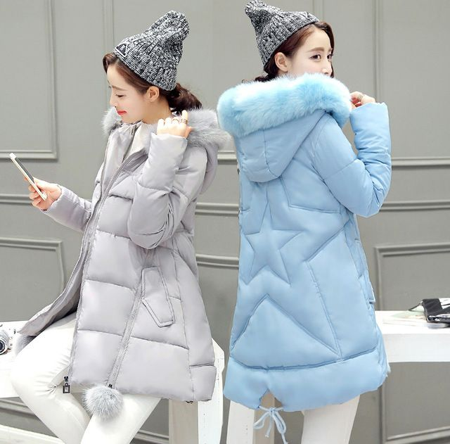 Winter new coat coat female large collar collar A version of thick down jacket cotton women in the long paragraph size
