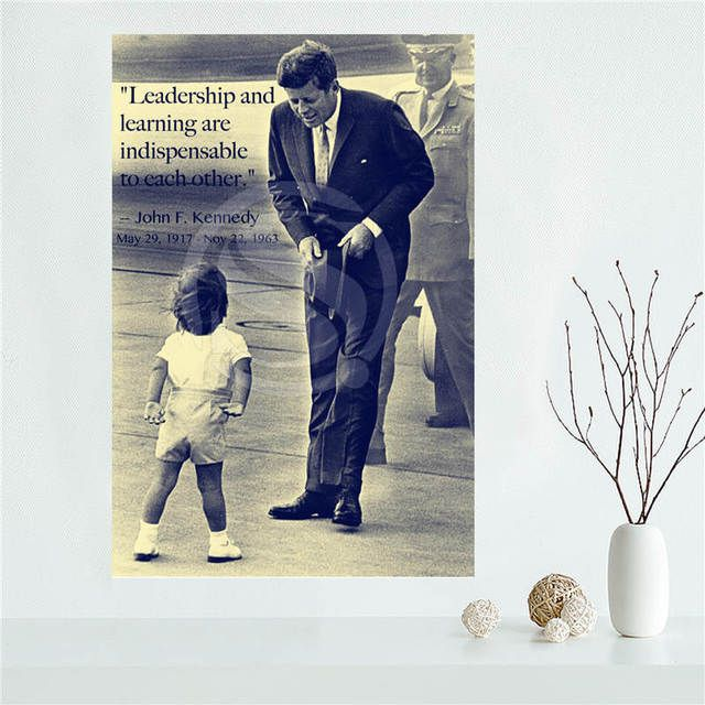 Y530L51 Custom John F Kennedy Canvas Painting Wall Silk Poster cloth print DIY Fabric Poster F#47