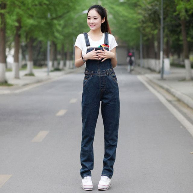Free Shipping 2017 New Fashion Straight Pants For Women Plus Size XL 5XL High Quality Trousers Denim Jeans Jumpsuits And Rompers