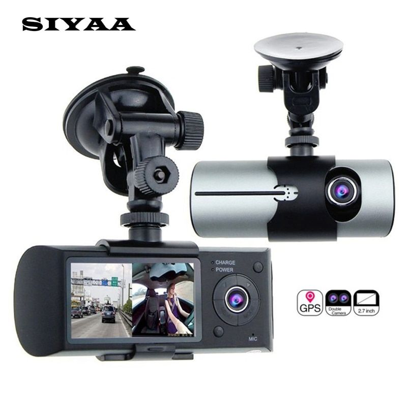 "2017 HOT Dual Camera Car DVR R300 with GPS and 3D G-Sensor 2.7"" TFT LCD X3000 Cam Video Camcorder Cycle Recording Digital Zoom"