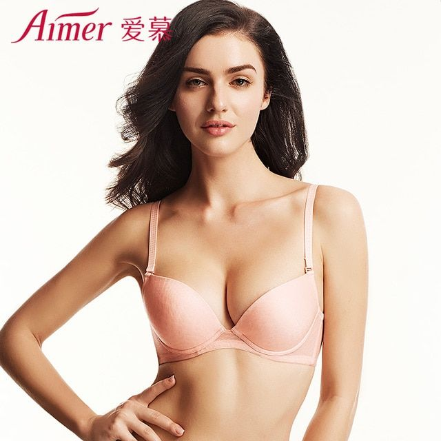 Aimer 3/4 Women Push Up Bra Breathable Sexy Brassiere Seamless Bras For Women Underwear AM11LA3