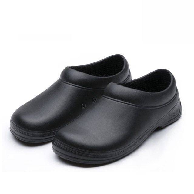 man cook Chef work shoes non-slip shoes men's shoes sandals kitchen skid resistance slip-on black size 39-44 gfe9031