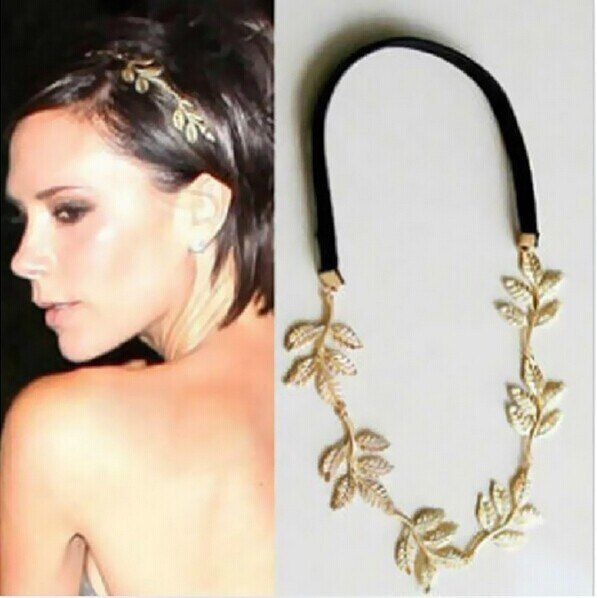 Chic Elegant Women Girls Retro Vintage Hollow Leaf Elastic Hair Band Headband