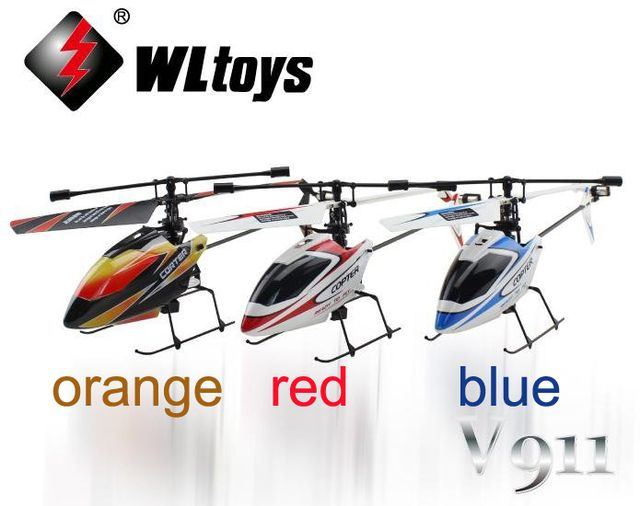 WL V911 RTF 4CH 2.4G Mini Radio single blade RC Helicopter with Gyro LCD display WLtoys p2